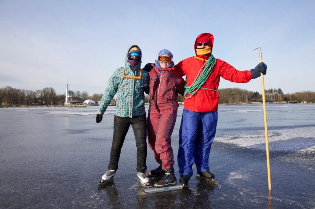 reportage over schaatsen op natuurijs Groningen